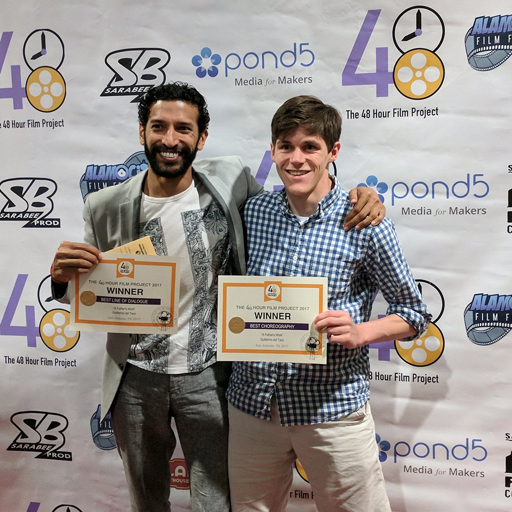 Director Andrew Jacobson and Actor Suhail Arastu with 48HFP Awards