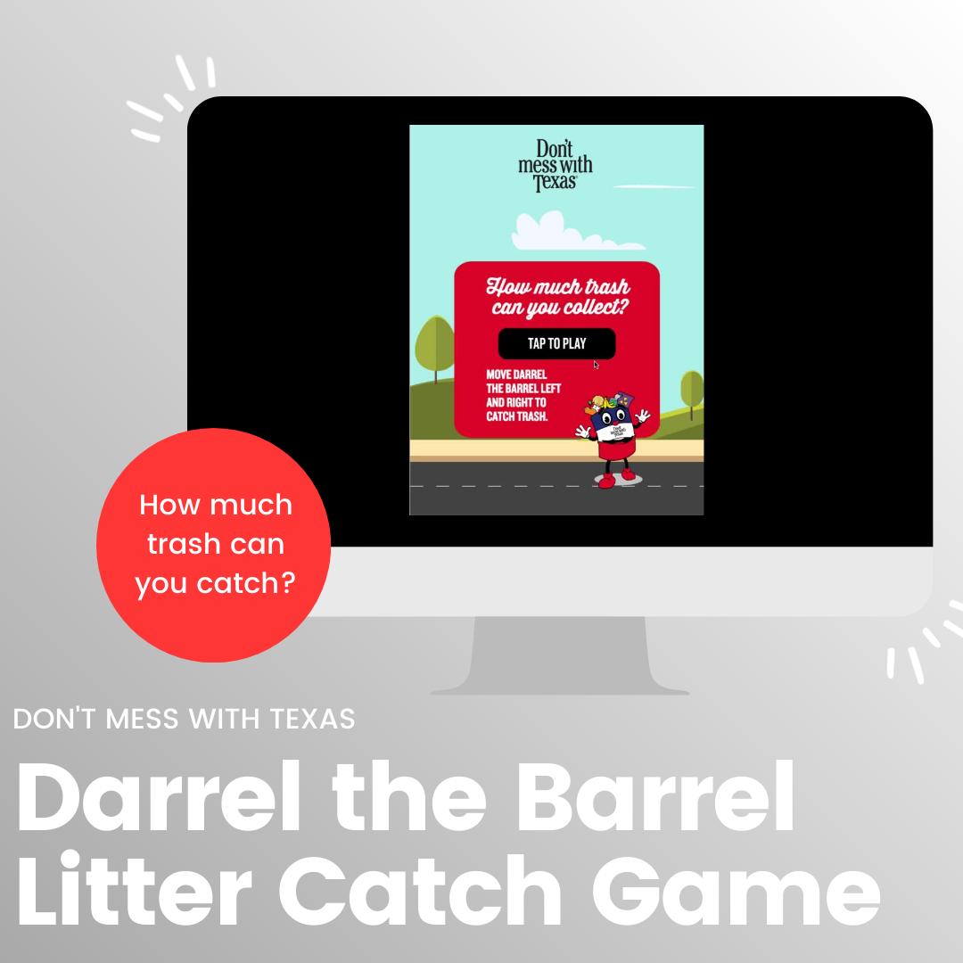 Darrel the Barrel Litter Catch Game